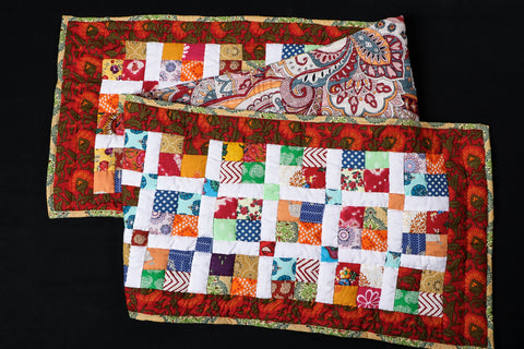 Special Applique Quilted Table Runner (72in x 15in)