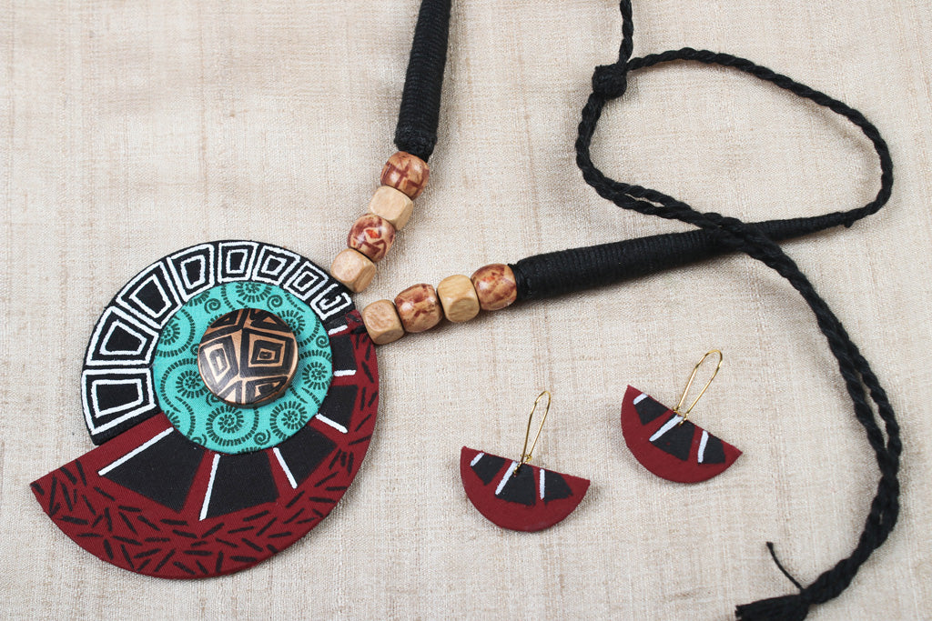 Bishnupur Handcrafted Fabric Necklace Set