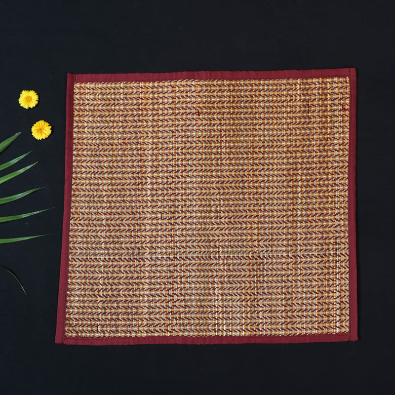 Madur Grass Mat Assan of Midnapur (18 x 18 in)