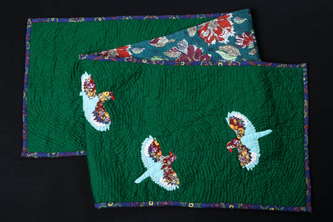 Special Applique Quilted Table Runner (70in x 15in)