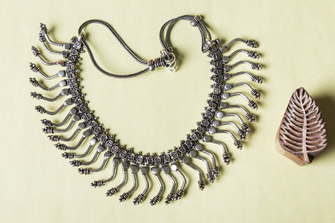 Antique Finish German Silver Khushboo Necklace