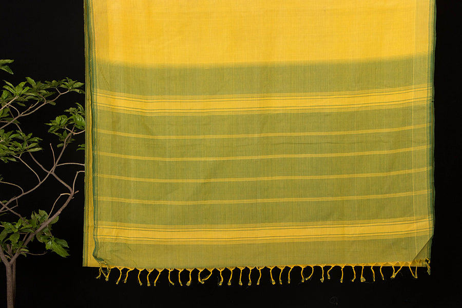 Godavari Rampam Cotton Saree with Blouse by DAMA