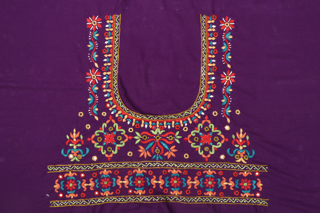 Special Kutchi Hand Embroidery Cotton Blouse Piece