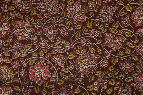 Kalamkari Screen Print Cotton Precut Fabric