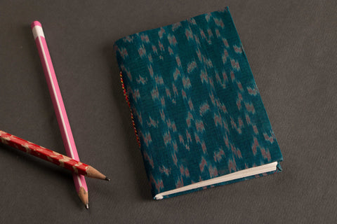 andmade Ikat Fabric Cover Slim Diary 5x3.5
