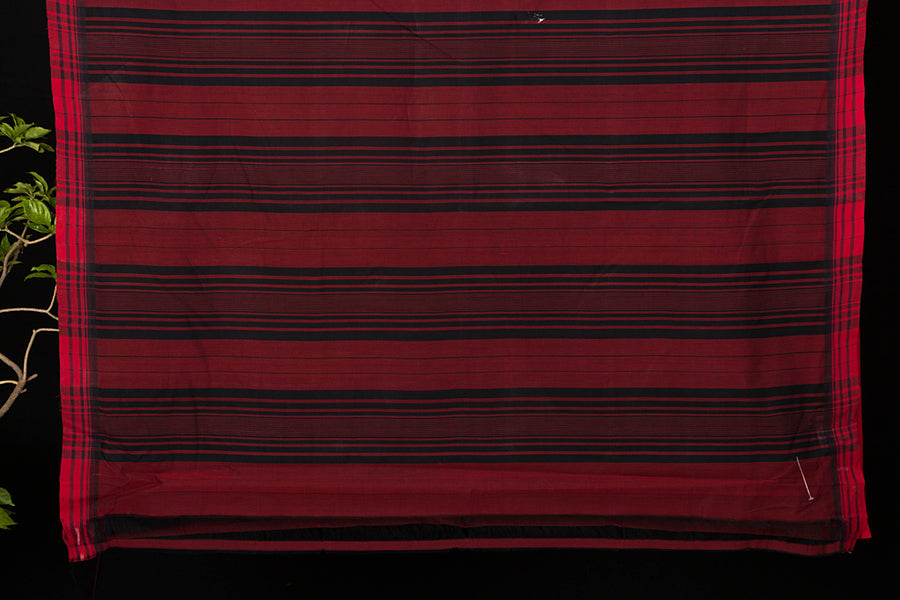 Godavari Muttulu Stripe Cotton Saree with Blouse by DAMA
