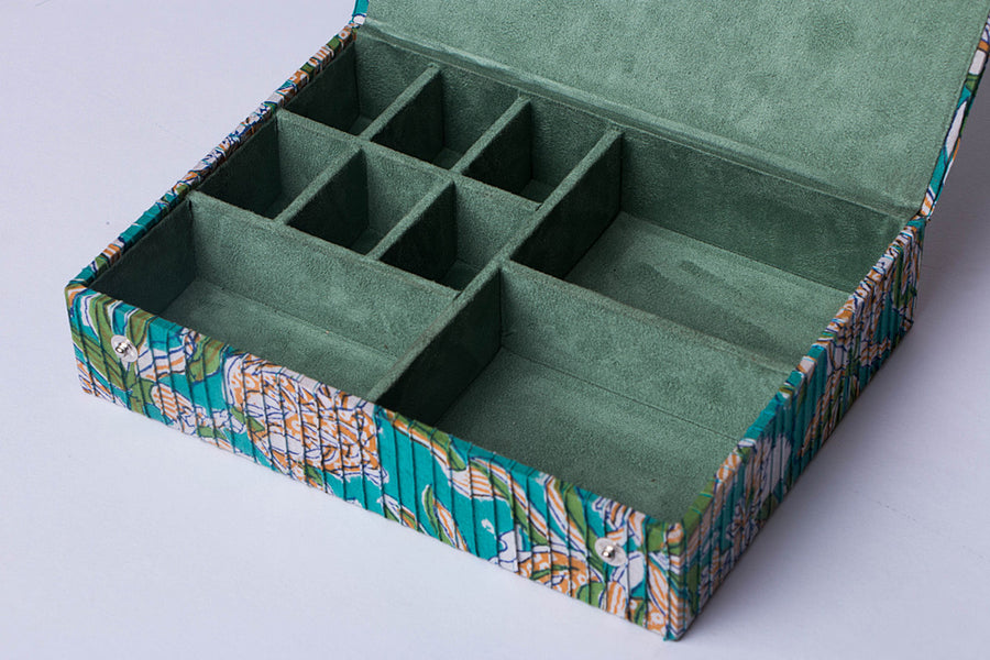 Printed Fabric Handmade Jewelry Box by Sukriti
