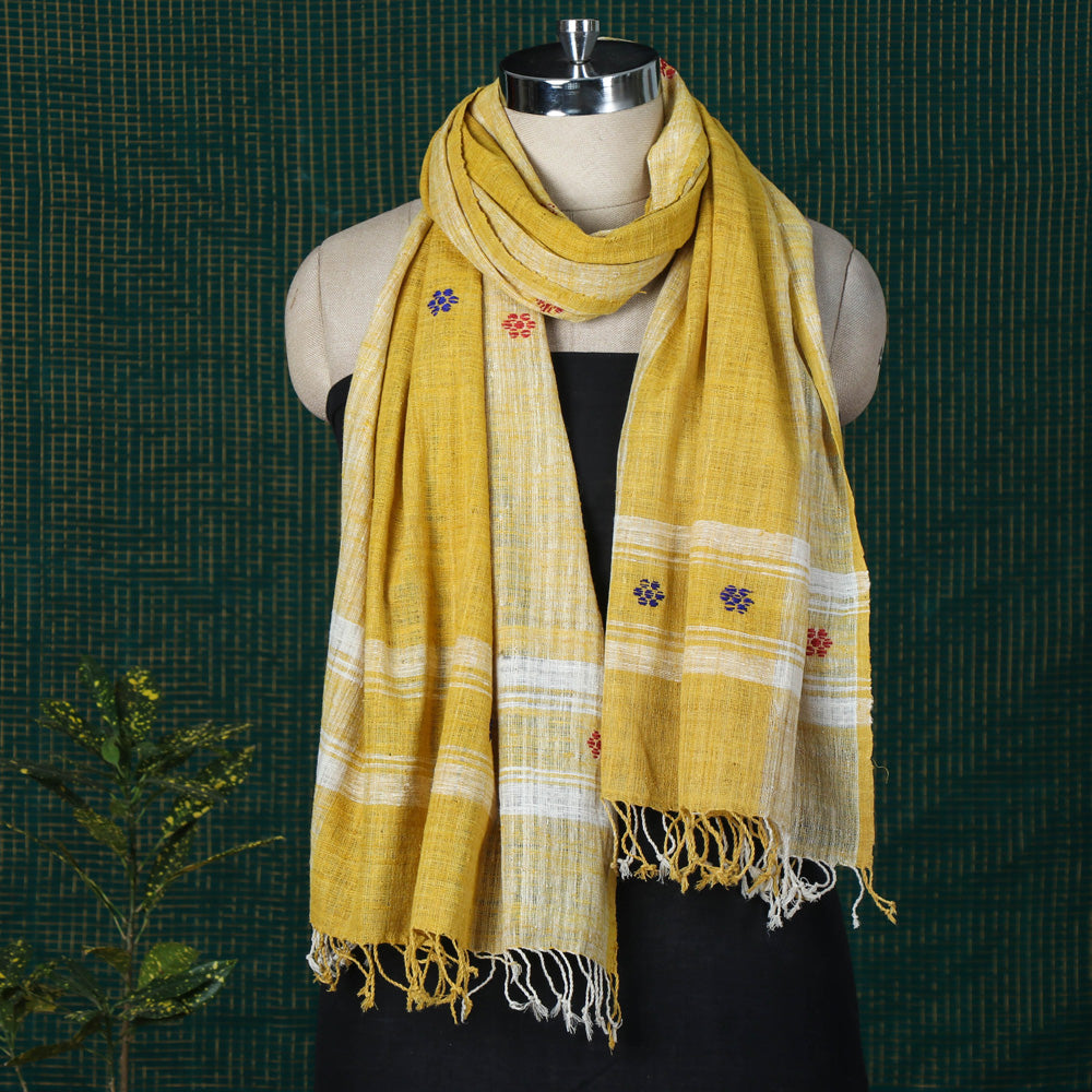 Traditional Handspun Handloom Eri Natural Dye Stole