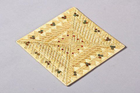 Golden Grass Mat Coaster