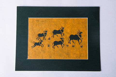 (9 x 11 inches) Sanjhi Paper Cut Artwork by Vijay Soni