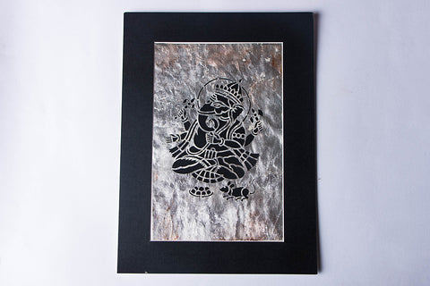 (15 x 11 inches) Sanjhi Paper Cut Artwork with Gold-Silver Foil by Vijay Soni