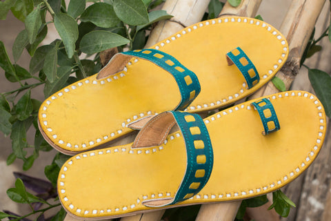 Handstitched Leather Slipper by Shyam Ji