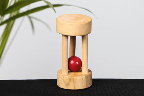 Handmade Wooden Mini Floating Bell Rattle