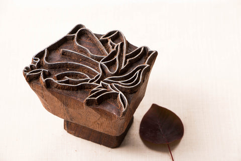 Hand-carved Teak Wood Block by Gangadhar
