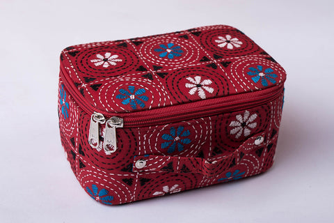 Bengal Kantha Work Handcrafted Jewelry Box