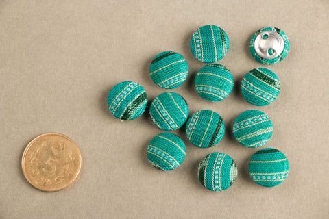 Ikat Fabric Button Mini (Set Of 12 )