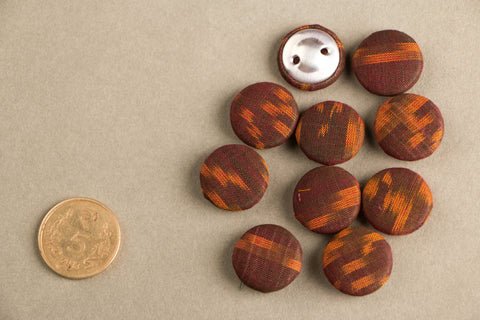 Ikat Fabric Button Medium (Set Of 10 )