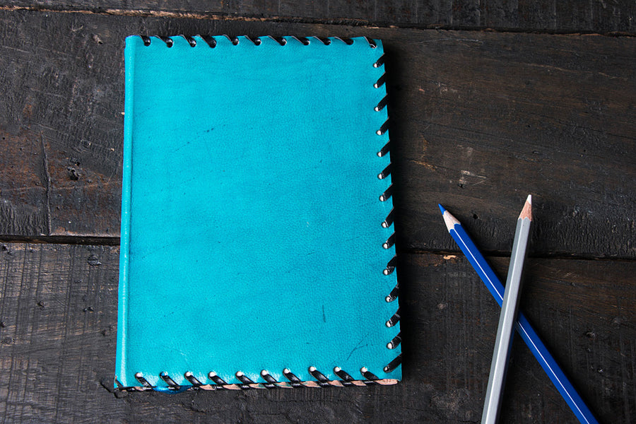 Handmade Leather Notebook 7in x 5in