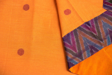 Bengal Jamdani Buti Blouse Materials with Ikat Border