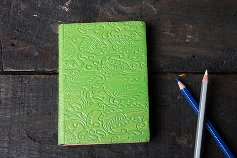 Handmade Leather Notebook 6in x 4in