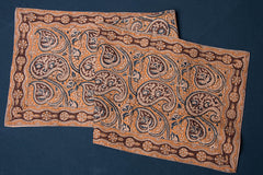 Original Pedana Kalamkari Block Printed Natural Dyed Cotton Table Runner