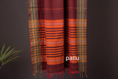 Dharwad Cotton Handwoven Saree with Thread Border