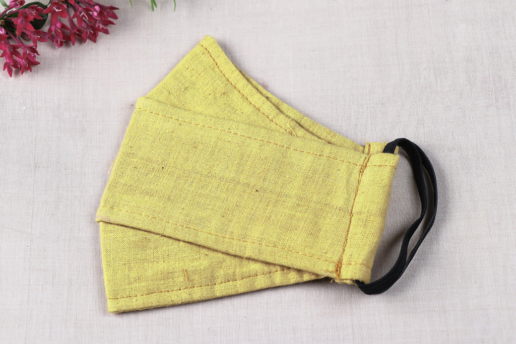 Organic Kala Cotton Pure Handloom Fabric 3 Layer Maska Fit Face Cover