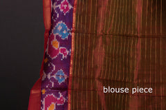 Original Mangalgiri Silk Cotton Checks Handloom Saree with Katari Zari Border