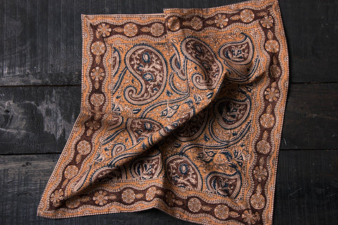 Original Pedana Kalamkari Block Printed Natural Dyed Cotton Napkin
