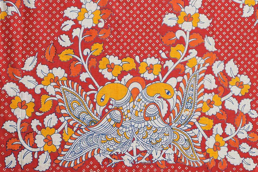 Kalamkari Printed Pure Cotton Blouse Piece