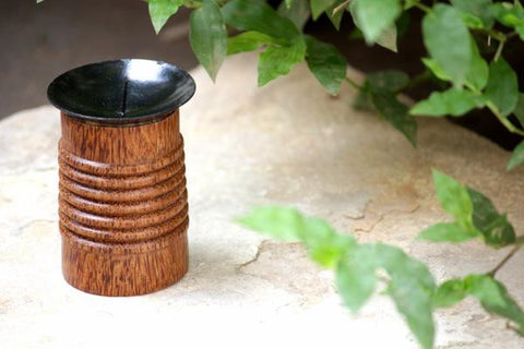 Coconut Wood Candle Stand