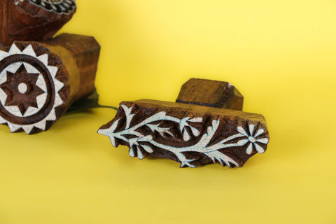 Hand-carved Teak Wood Block by Gangadhar (Medium)