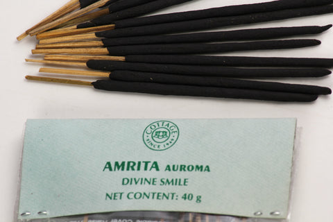 "Sri Aurobindo Ashram - 40gm  Divine Smile 4"" Incense Sticks"