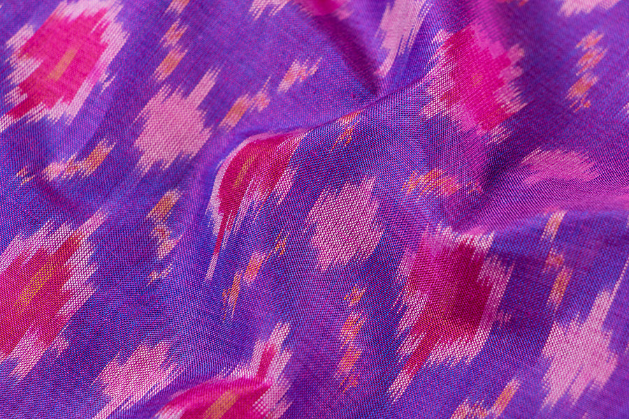 Pochampally Double Ikat Silk Cotton Pure Handloom Fabric
