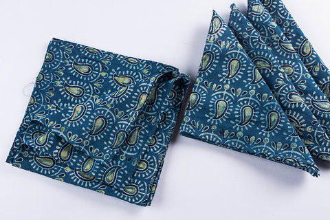 Rang Bahar Bagh Print Cotton Table Napkins Set of 6