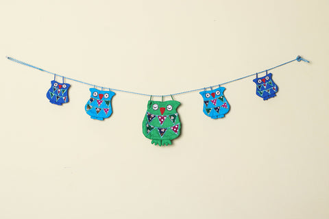Handmade Owl Family Door Hanging by SASHA