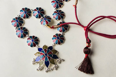 Handcrafted Paka Meenakari Necklace