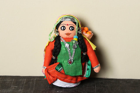 Traditional Handmade Apple Picker Doll
