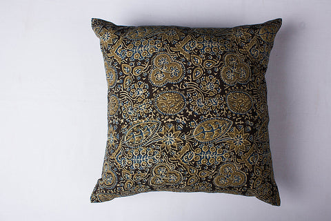 Ajrakh Print Cotton Cushion Cover (16in x 16in)