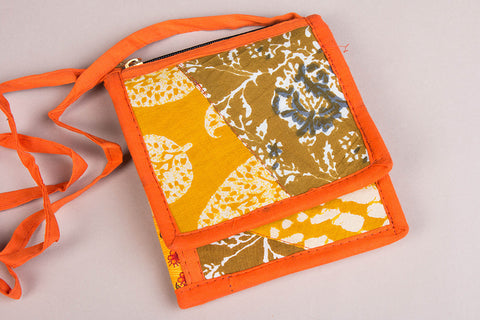 Tukdi Kaam Cotton Multipurpose Sling Wallet