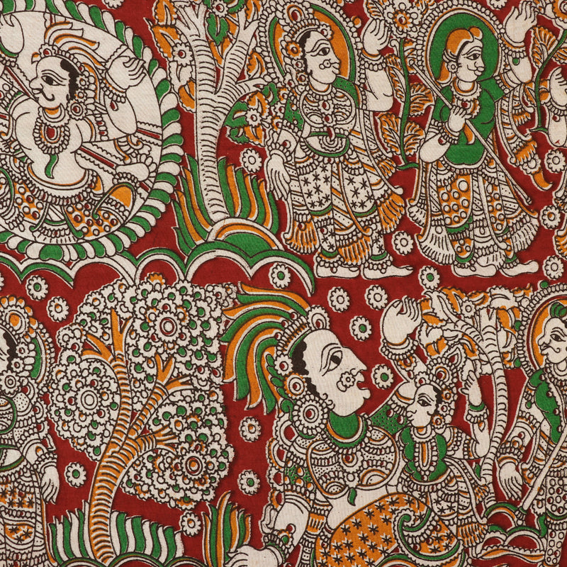 Kalamkari Printed Pure Cotton Fabric