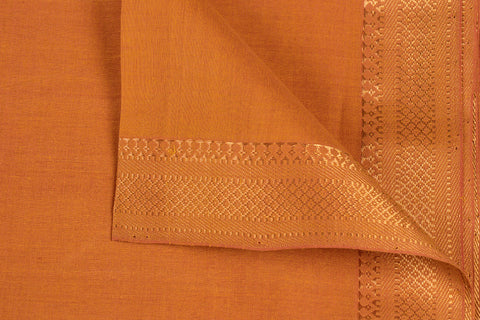 Turmeric - Original Mangalgiri Pure Handloom Cotton Fabric with Big Zari Border