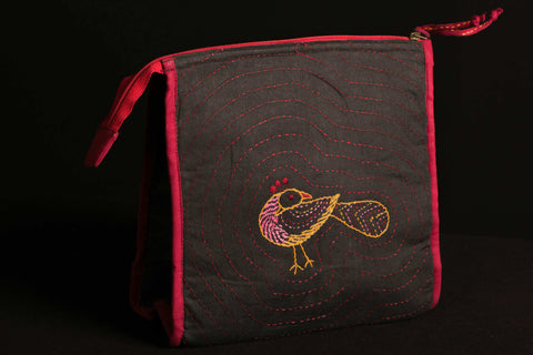 Kantha work Cosmetic Bag /Toilet pouch