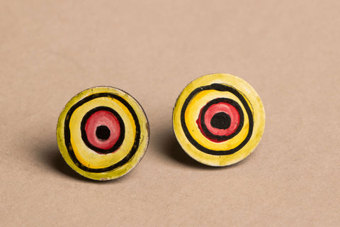 Handpainted Earrings with Kerala Mural Art