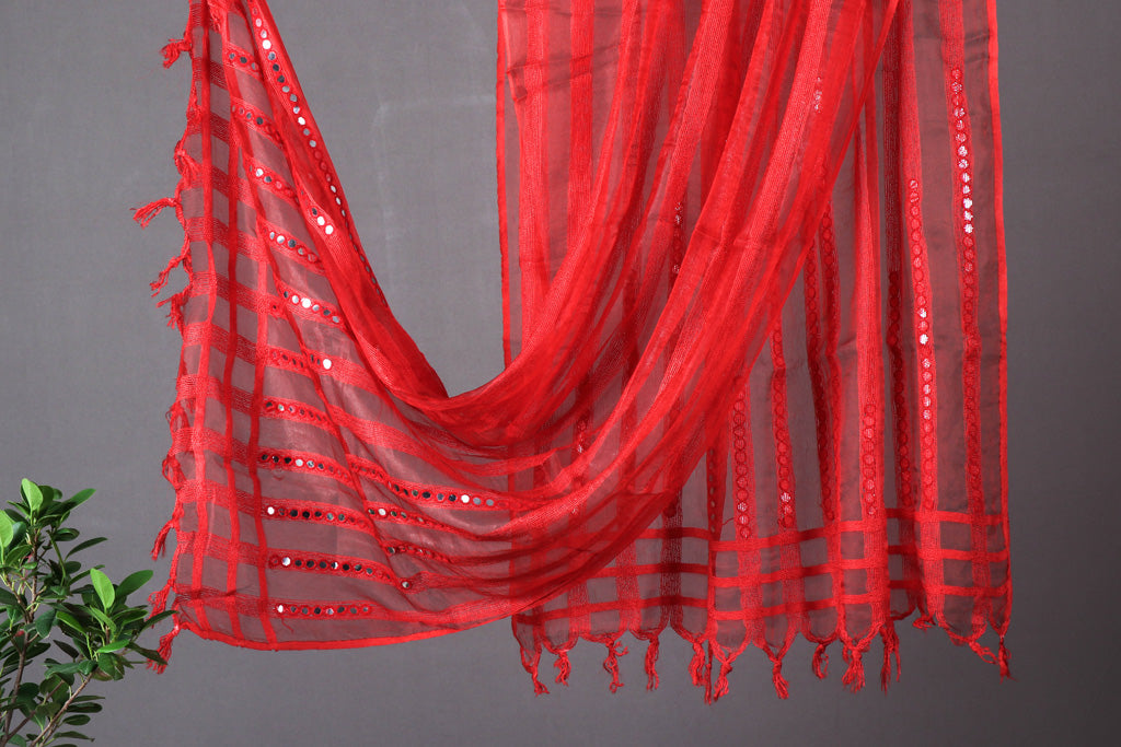 Jaipur Tissue Dupatta with Tassels