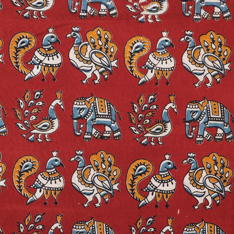 Kalamkari Printed Silk Cotton Fabric