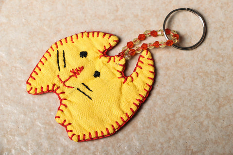 Handmade Cat Key Ring by SASHA