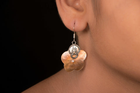 Sterling Silver Coral Earring