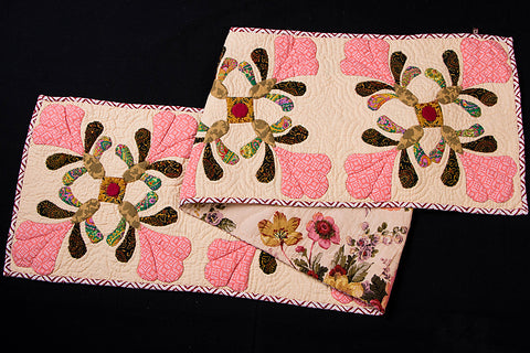 Applique Quilted Table Runner (68in x 14in)