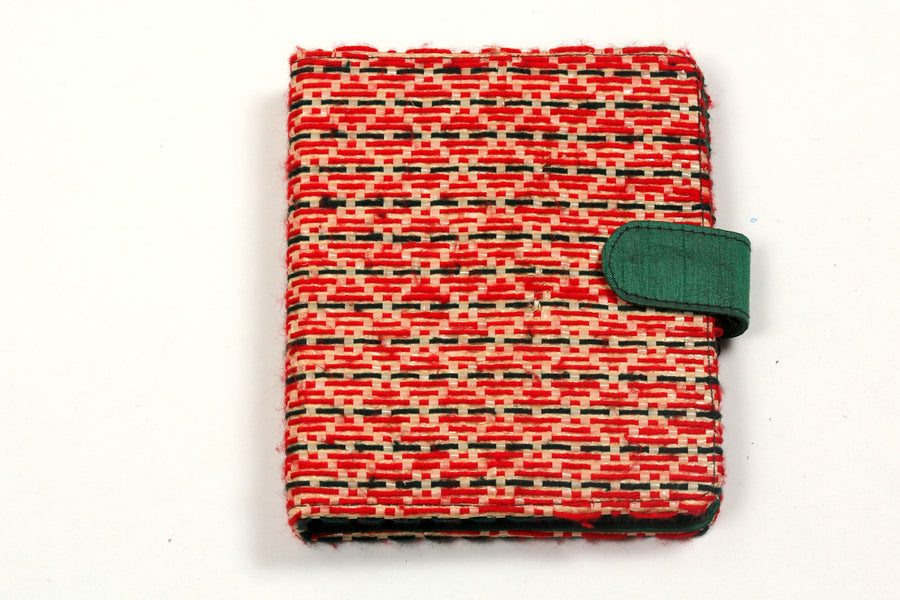 Recycled & Embroidered Ring Diary